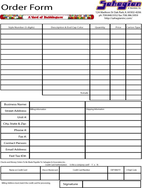 Catalog  Order Forms